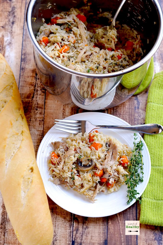 Instant Pot Chicken And Brown Rice  Instant Pot Chicken and Rice A Pinch of Healthy
