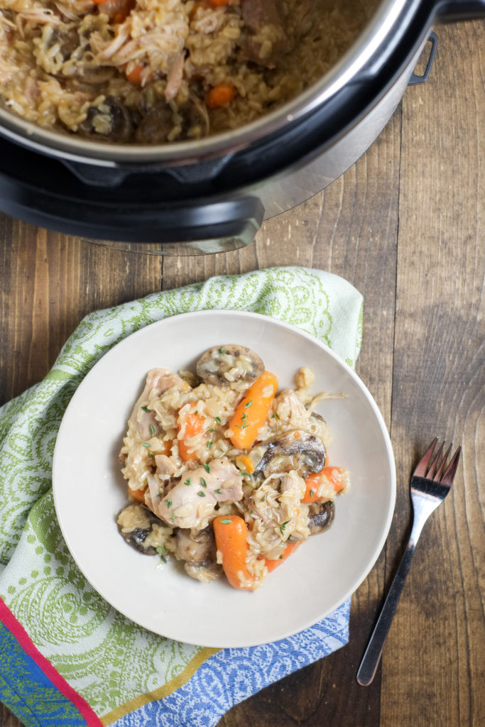 Instant Pot Chicken And Brown Rice  All in one Instant Pot Chicken and Brown Rice