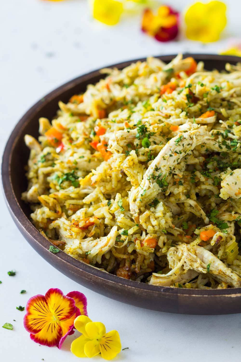 Instant Pot Chicken And Brown Rice  Instant Pot Chicken and Rice Green Healthy Cooking