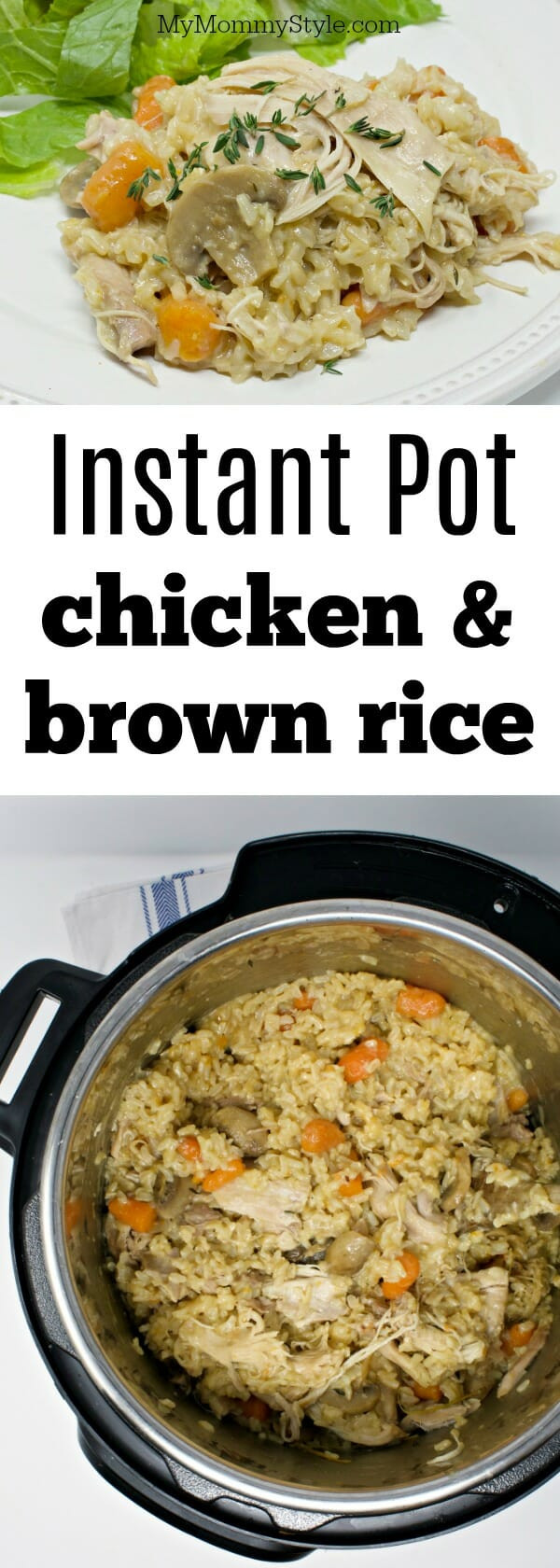 Instant Pot Chicken And Brown Rice  Instant pot chicken and rice My Mommy Style