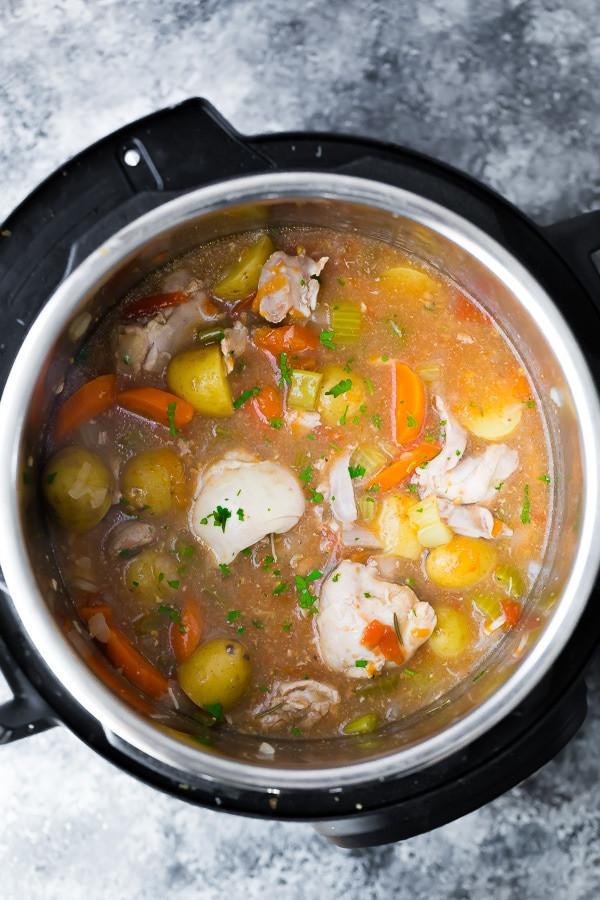Instant Pot Chicken Stew  Instant Pot Tuscan Chicken Stew SUPER popular