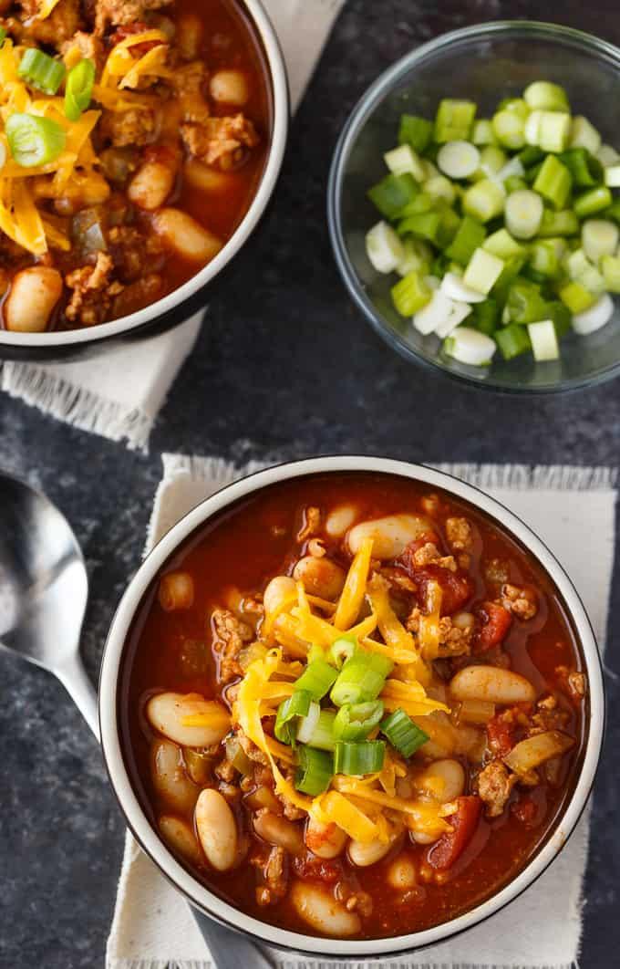 Instant Pot Turkey Chili  Quick White Bean & Turkey Chili Simply Stacie