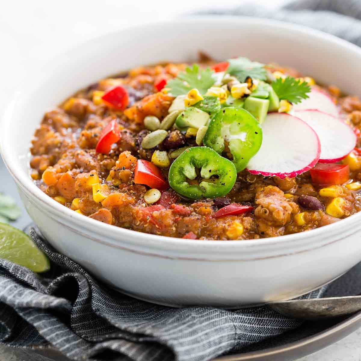 Instant Pot Turkey Chili  Instant Pot Turkey Chili with Quinoa