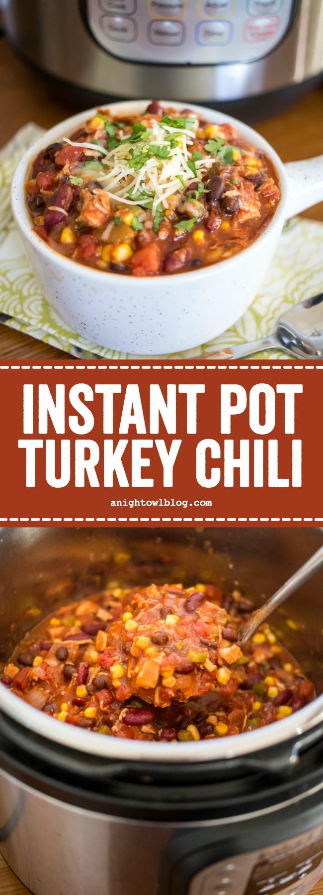 Instant Pot Turkey Chili  Instant Pot Turkey Chili
