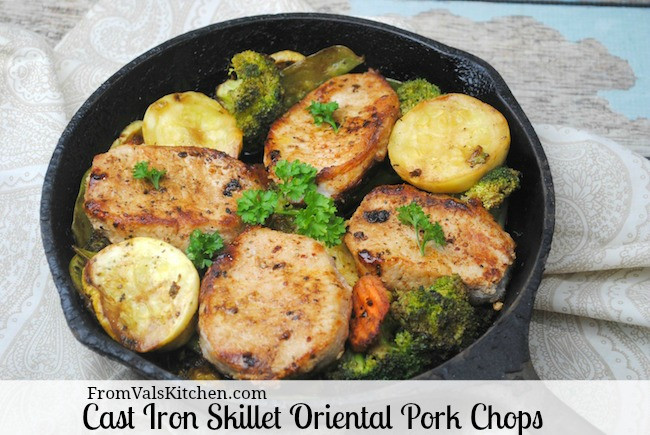 Iron Skillet Pork Chops  Oriental Pork Chops Cast Iron Skillet Recipe From Val s