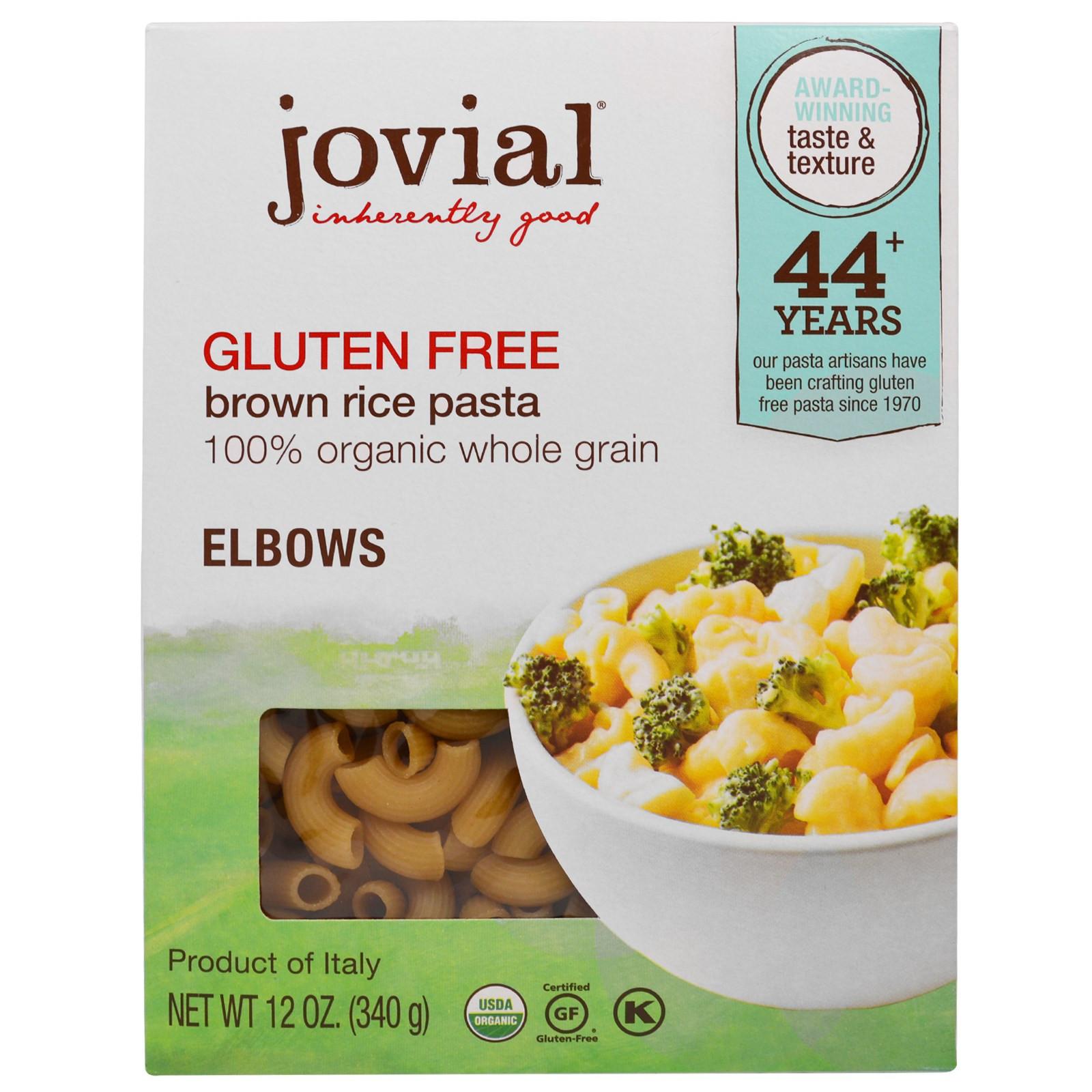 Is Brown Rice Gluten Free  Jovial Organic Brown Rice Pasta Elbows Gluten Free 12