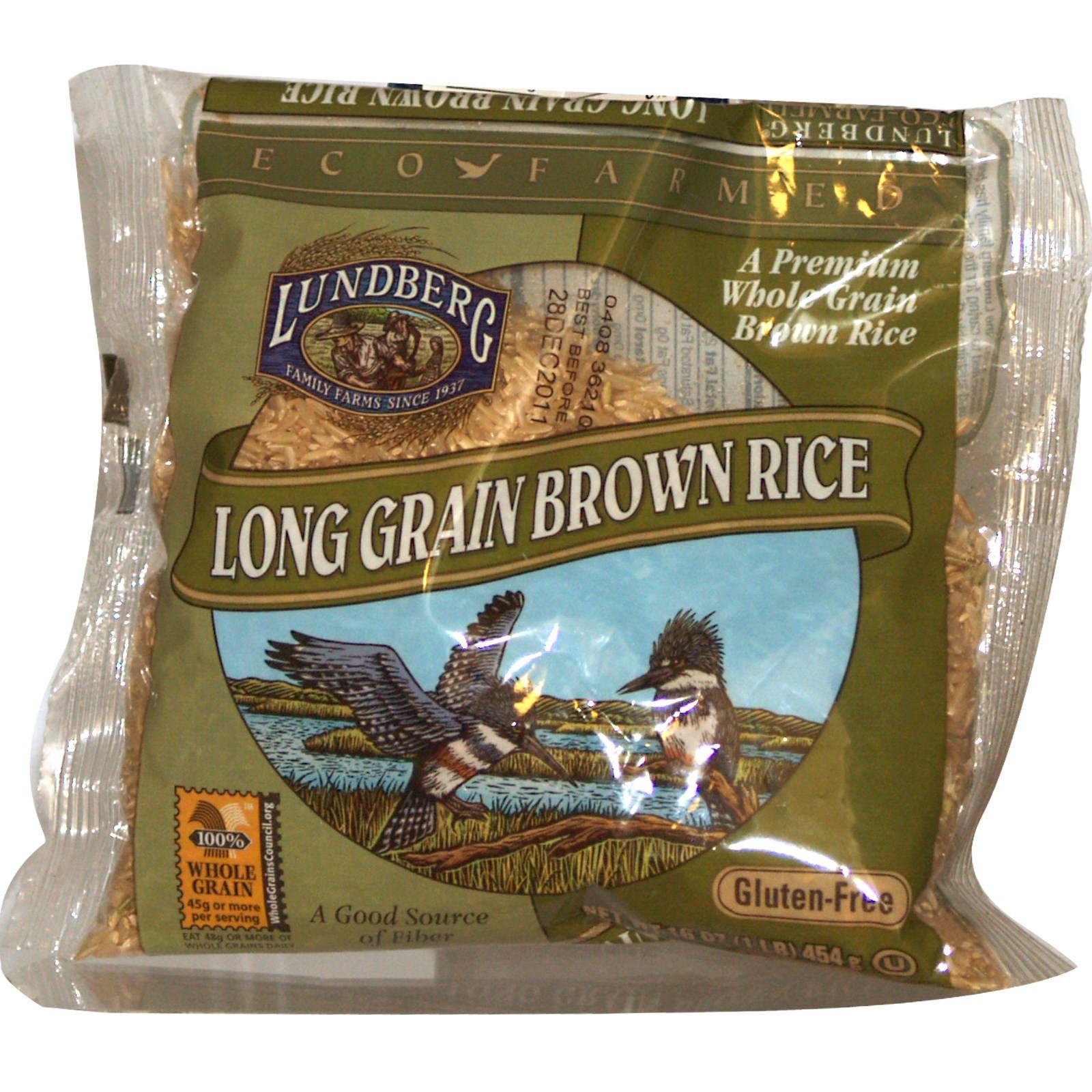 Is Brown Rice Gluten Free  Lundberg Long Grain Brown Rice Gluten Free 16 oz 454 g