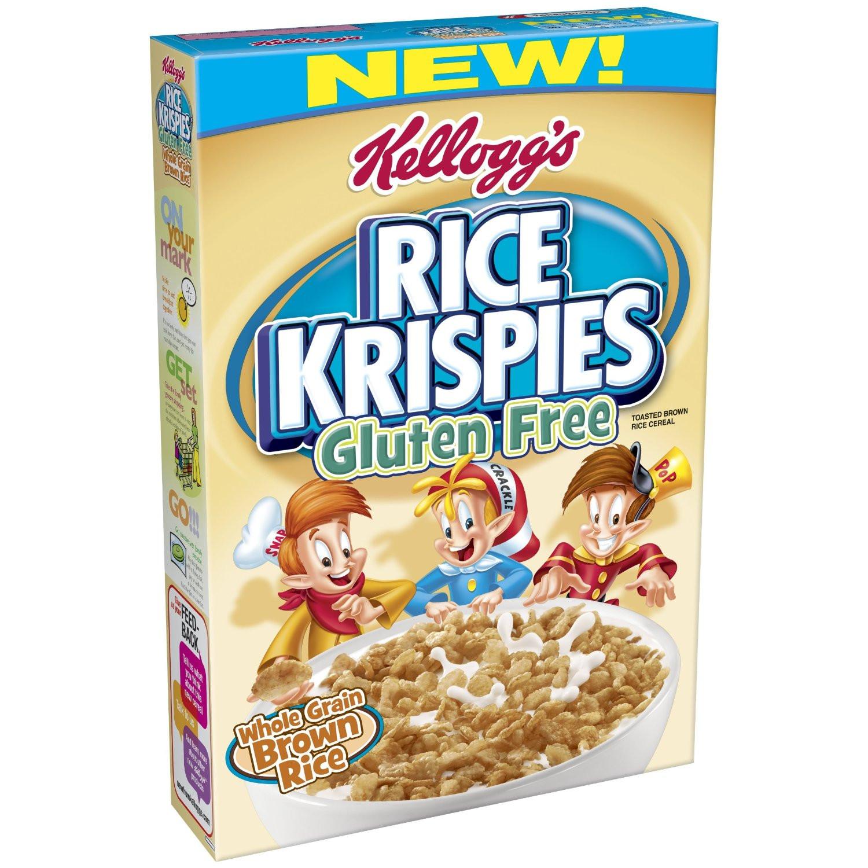 Is Brown Rice Gluten Free  Kellogg's Gluten Free Whole Grain Brown Rice Krispies $2