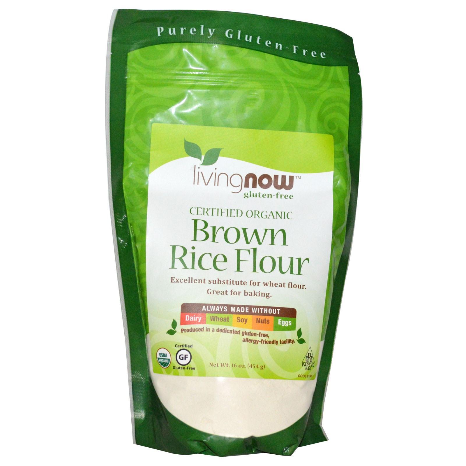 Is Brown Rice Gluten Free  Now Foods Certified Organic Brown Rice Flour Gluten Free