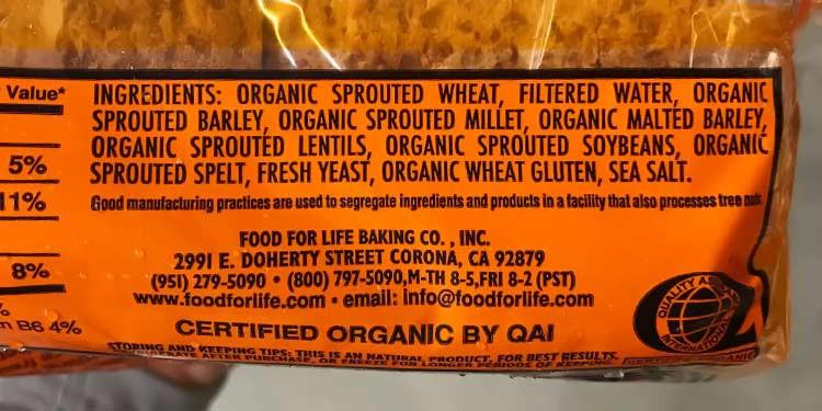 Is Ezekiel Bread Gluten Free  Food For Life Gluten Free Bread Calories