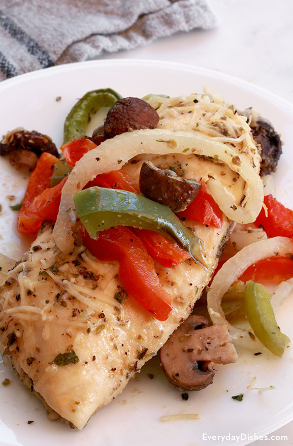 Italian Chicken Breast Recipes  Baked Italian Chicken Recipe with ions and Peppers