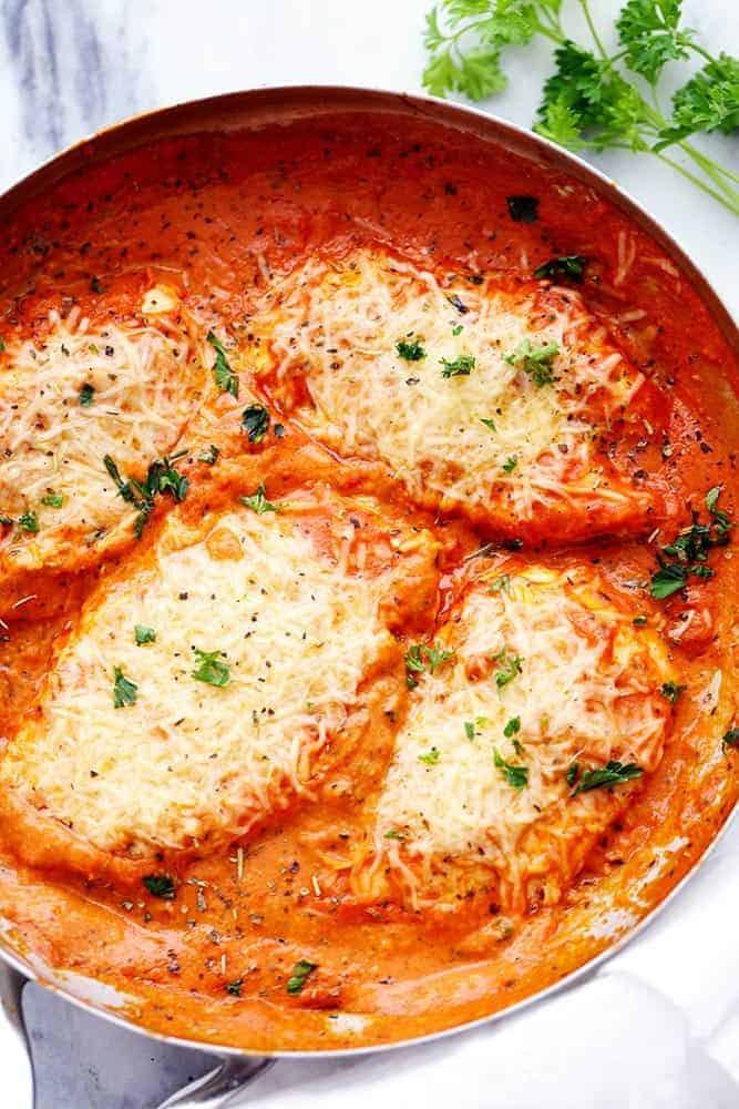 Italian Chicken Breast Recipes  Creamy Tomato Italian Parmesan Chicken