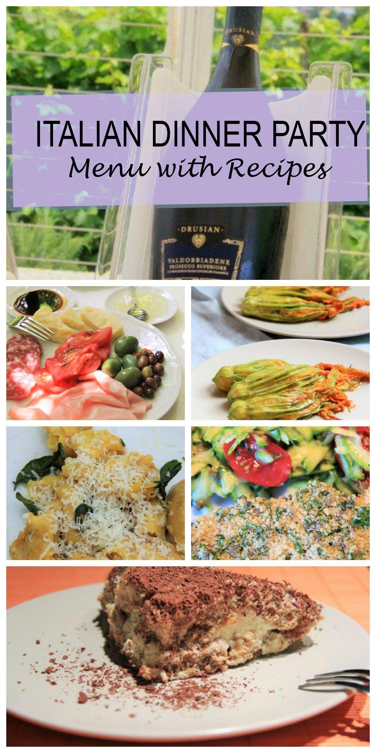 Italian Dinner Ideas  Italian Dinner Party Menu plete with Recipes for Easy