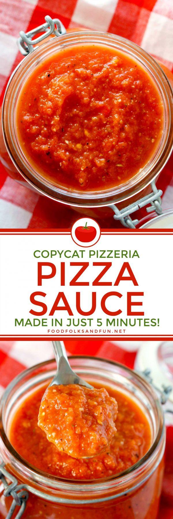 Italian Pizza Sauce Recipe  Copycat Pizzeria Pizza Sauce Recipe • Food Folks and Fun