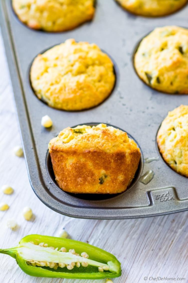 Jalapeno Cornbread Recipe  Jalapeno Cornbread Muffins Recipe