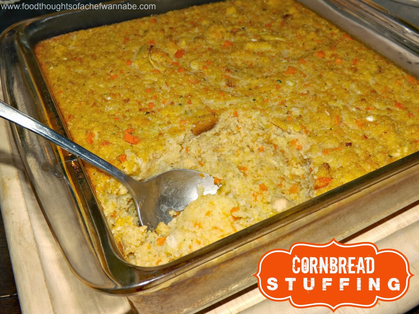 Jiffy Cornbread Dressing  FoodThoughts aChefWannabe Cornbread Stuffing