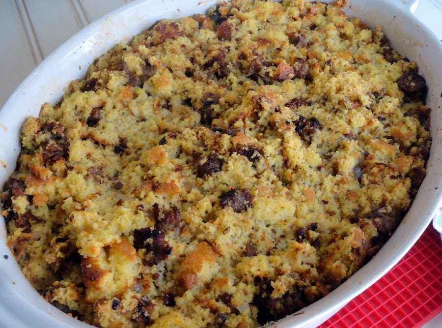Jiffy Cornbread Dressing  Carmelized ion Cornbread Dressing Recipe