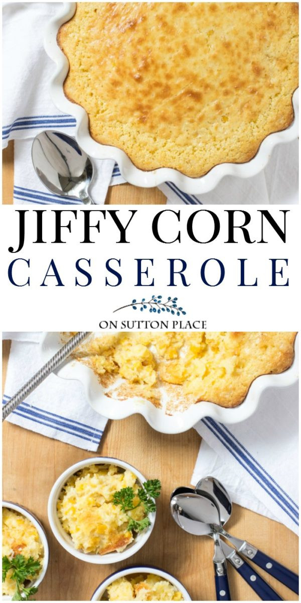 Jiffy Mix Corn Casserole  Jiffy Cornbread Mix Corn Casserole Recipe Sutton Place