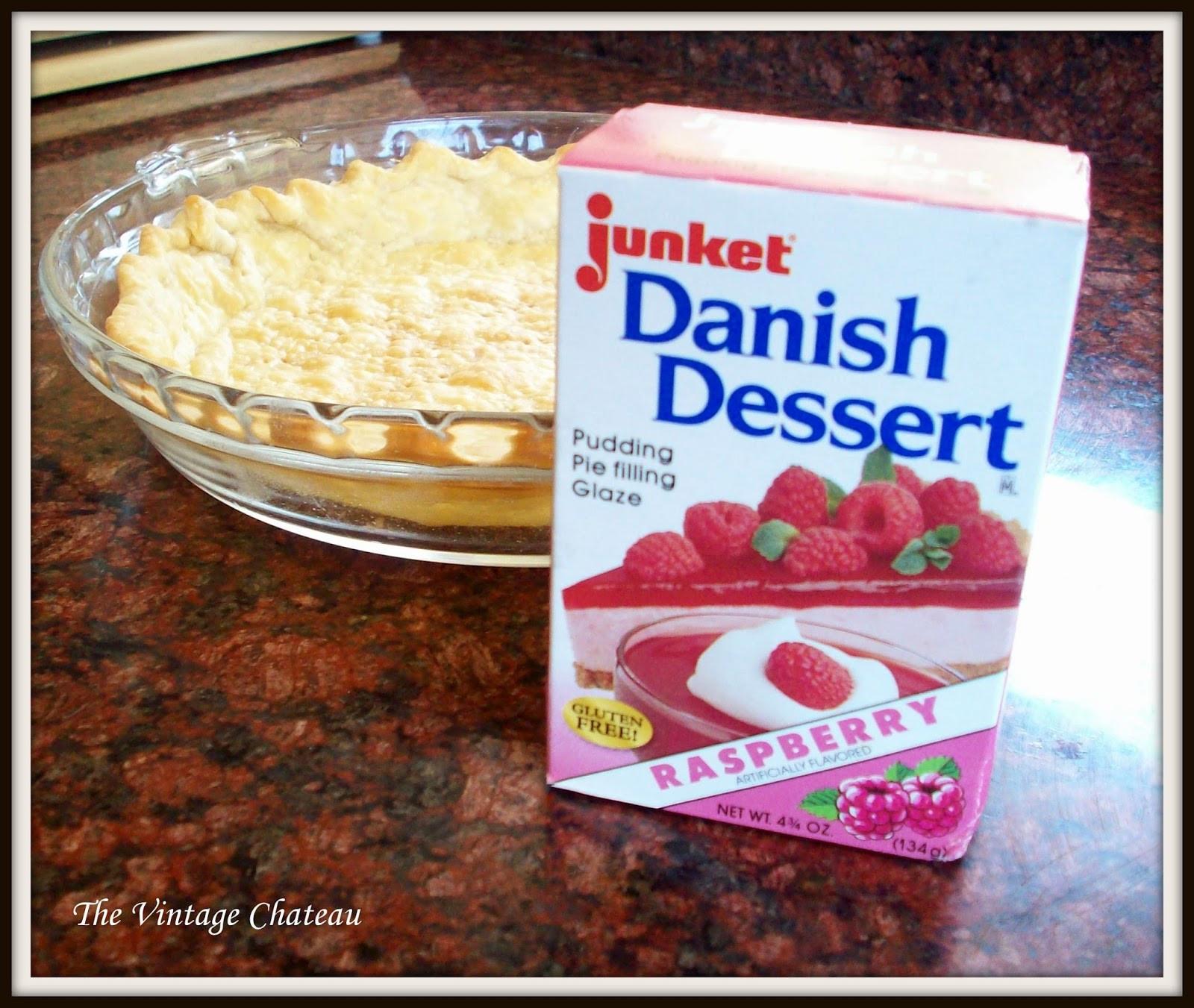 Junket Danish Dessert  The Vintage Chateau Fresh Strawberry Pie