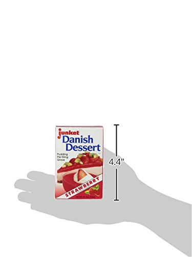 Junket Danish Dessert  Junket Danish Dessert Strawberry 4 75 Ounce Boxes Pack