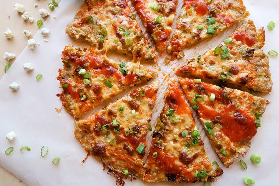 Keto Chicken Crust Pizza  Buffalo Chicken Crust Pizza