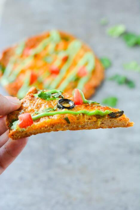Keto Chicken Crust Pizza  Chicken Crust Taco Pizza Low Carb & Keto