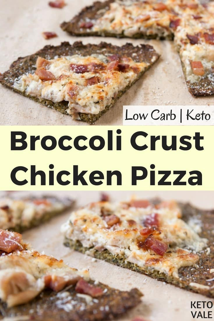 Keto Chicken Crust Pizza  Keto Broccoli Crust Chicken Pizza Low Carb Gluten Free