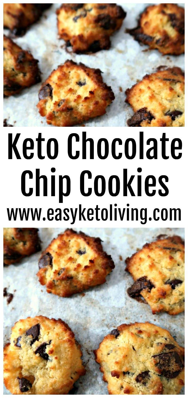Keto Cookies Recipe  Easy Low Carb Keto Chocolate Chip Cookies Recipe