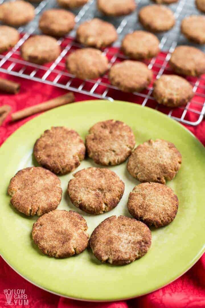 Keto Cookies Recipe  Keto Low Carb Snickerdoodle Cookie Recipe