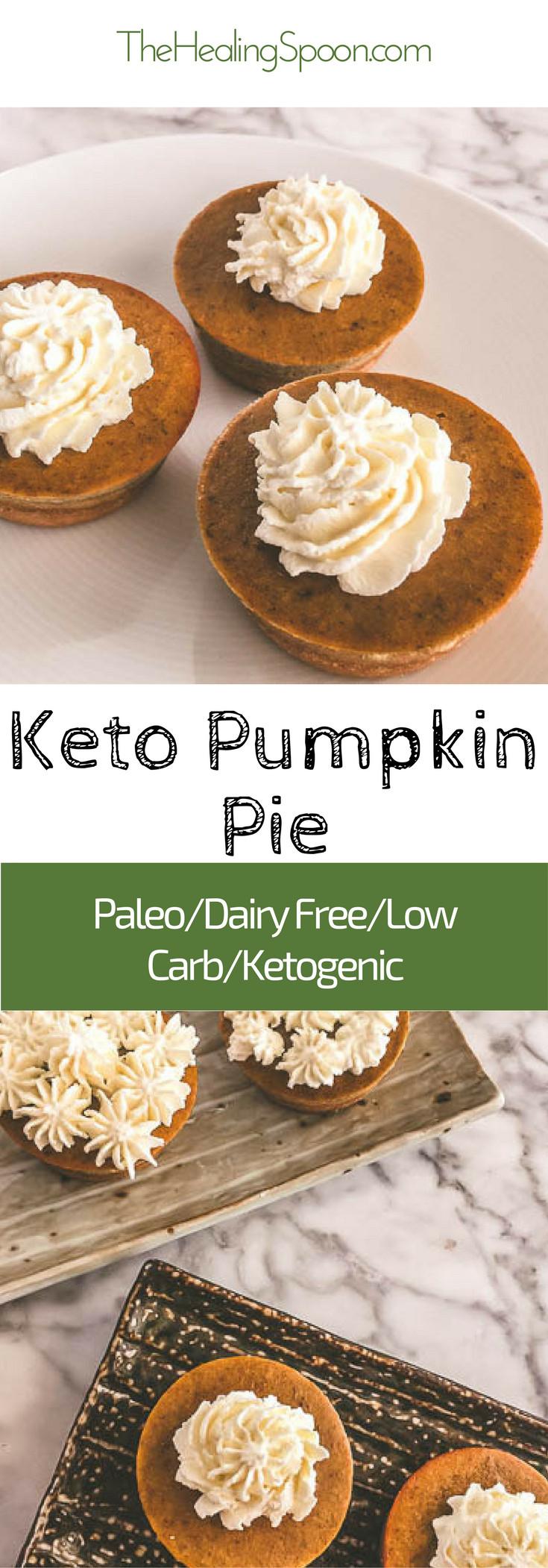 Keto Pumpkin Pie  keto lowcarb dairy free paleo mini pumpkin pie