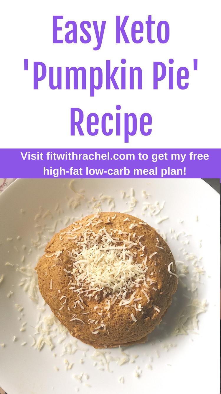Keto Pumpkin Pie  Keto Pumpkin Pie Easy Low Carb Recipe for Thanksgiving