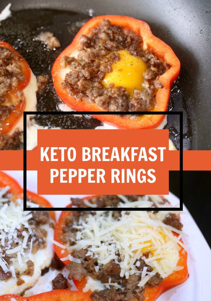 Keto Recipes Breakfast  Keto Breakfast Pepper Rings Recipe • Keto Size Me