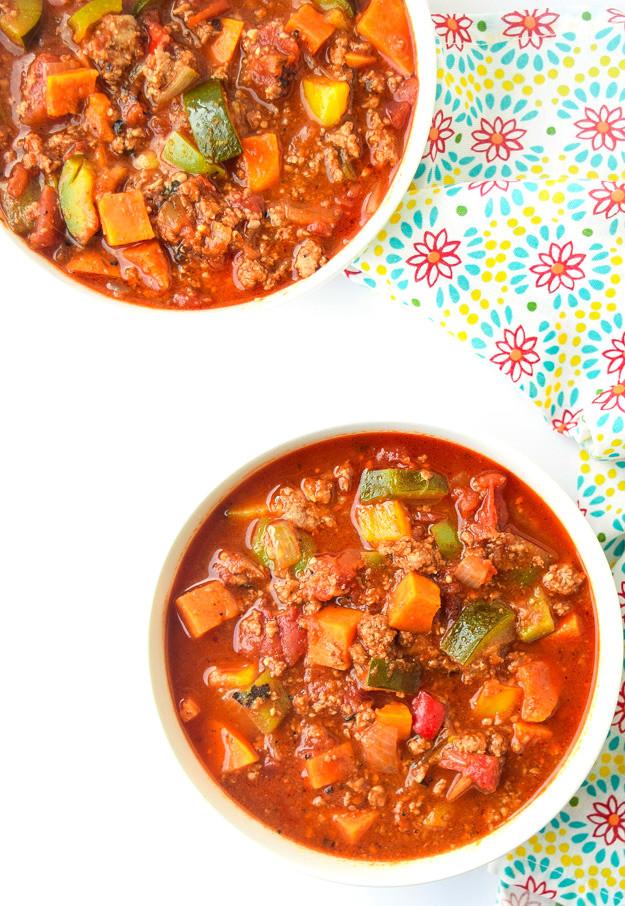 Keto Turkey Chili  Instant Pot Turkey Sweet Potato Chili Whole30 Paleo Keto