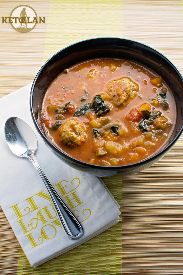 Keto Turkey Soup  The Keto Clan's Turkey Meatball Soup