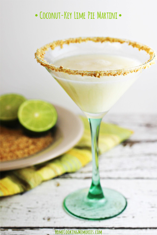 Key Lime Pie Martini  Coconut Key Lime Pie Martini Home Cooking Memories