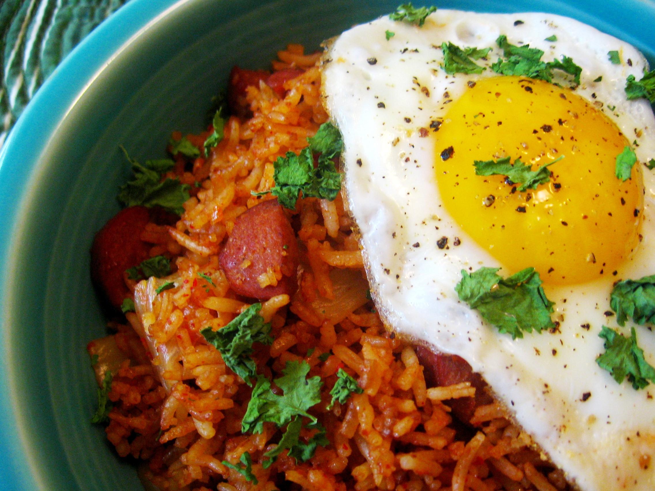 Kimchi Fried Rice  quick lunch – 5 29 12 – kimchi fried rice