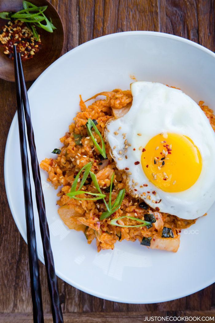 Kimchi Fried Rice  Kimchi Fried Rice • Just e Cookbook