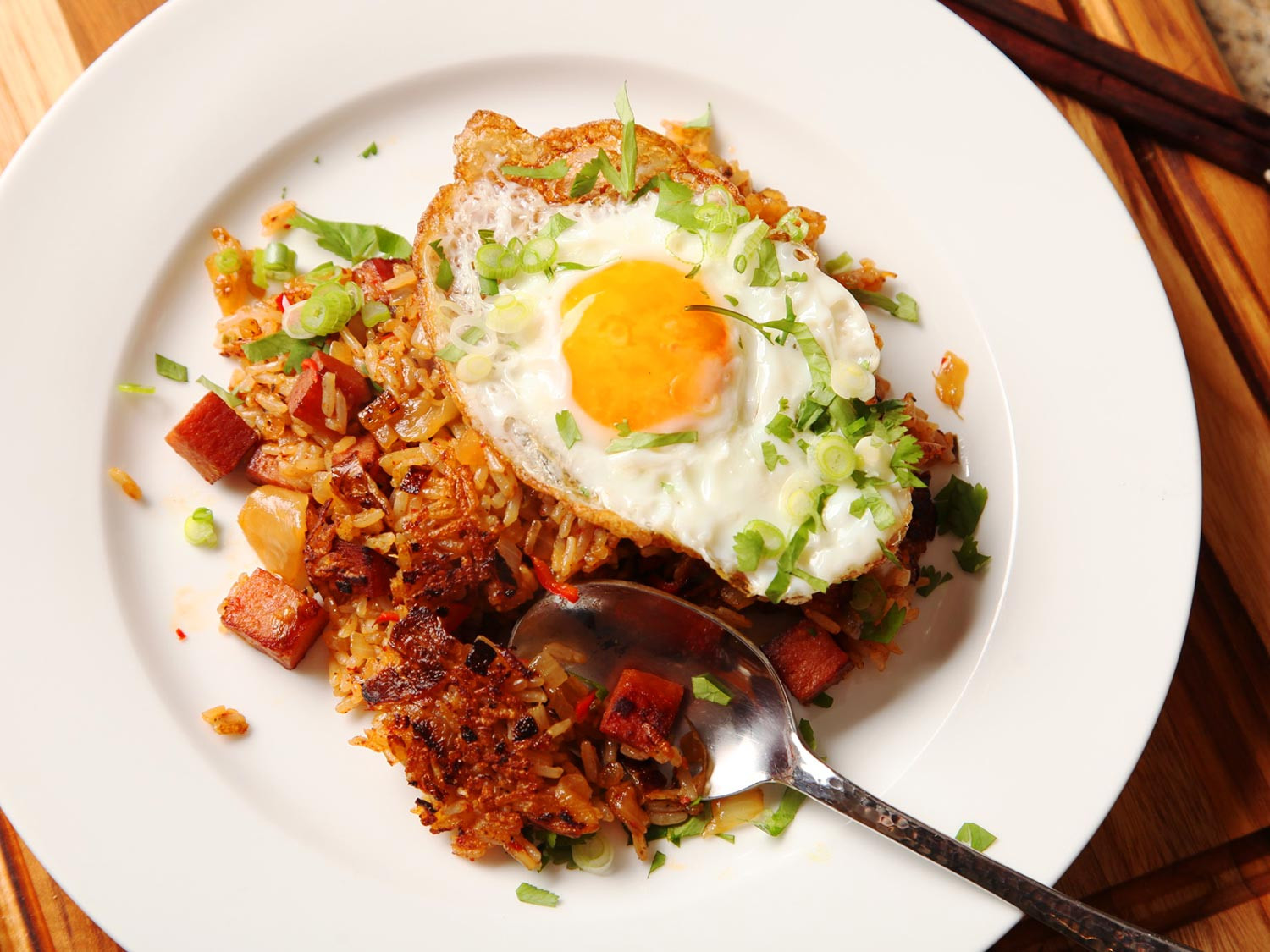 Kimchi Fried Rice  Best Eaten Alone Without Pants Kimchi and Spam Fried