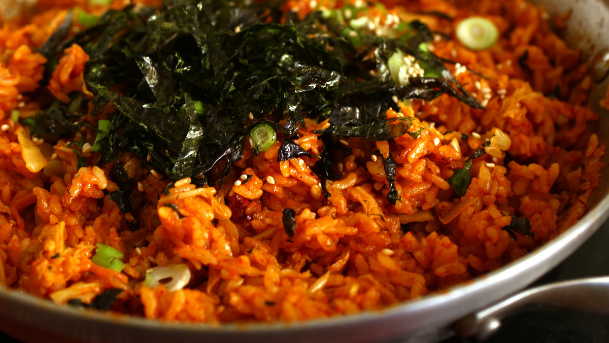 Kimchi Fried Rice  Kimchi fried rice Kimchi bokkeumbap recipe Maangchi
