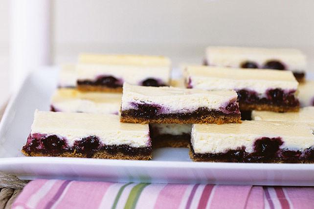 Kraft Cheesecake Recipe  Blueberry Cheesecake Bars Kraft Recipes