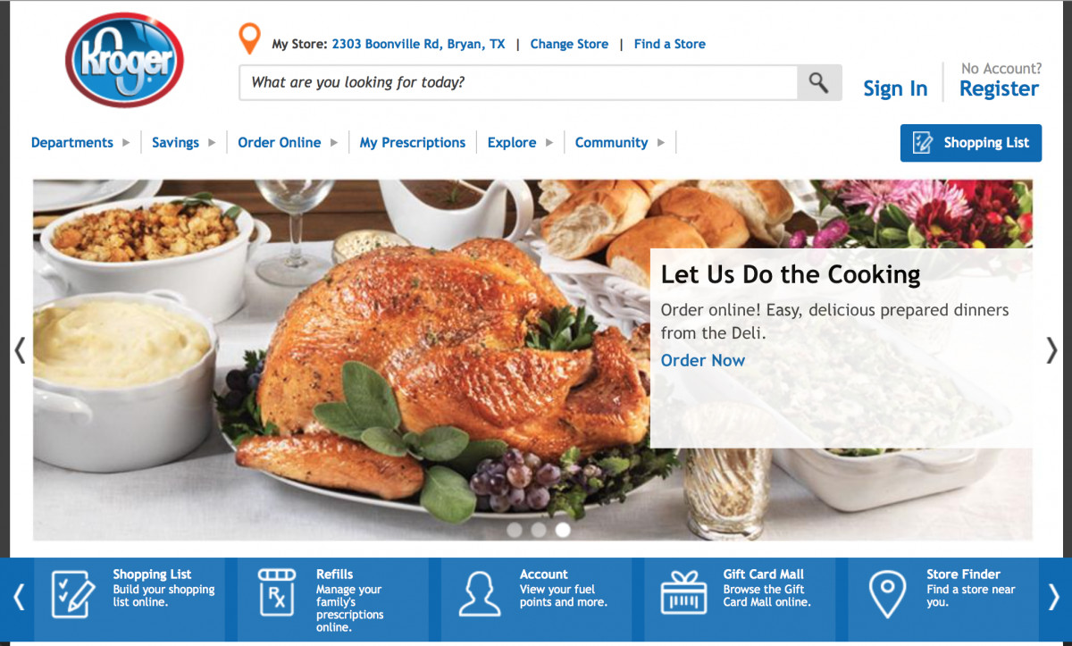 Kroger Thanksgiving Dinner  Getting Digital Right In Grocery Kroger s Hits And Misses