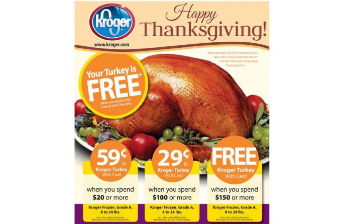 Kroger Thanksgiving Dinner  Build A Menu Blog Blog Archive Get a Free Turkey at