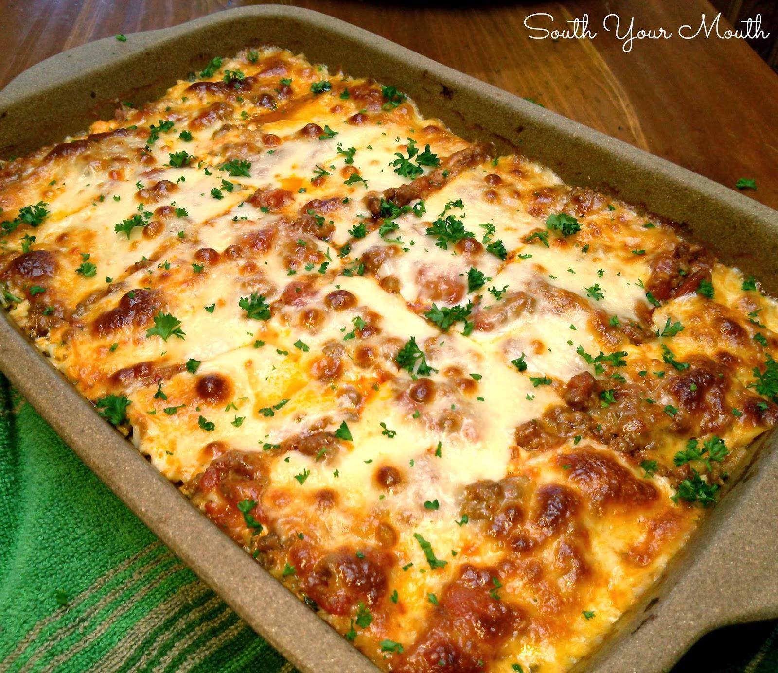 Lasagna Sauce Recipe  South Your Mouth Classic Lasagna