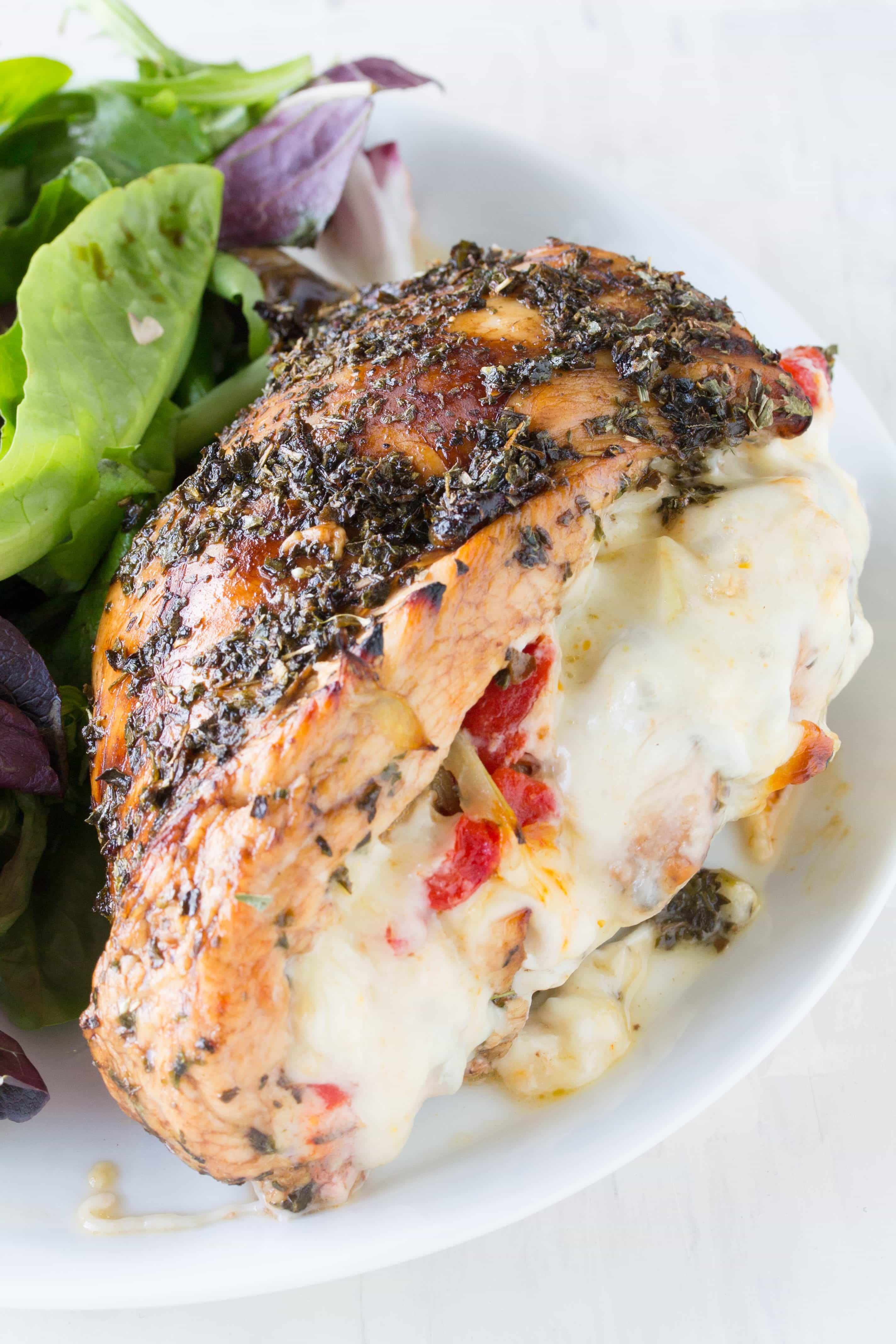 Lasagna Stuffed Chicken  Lasagna Stuffed Chicken Breasts