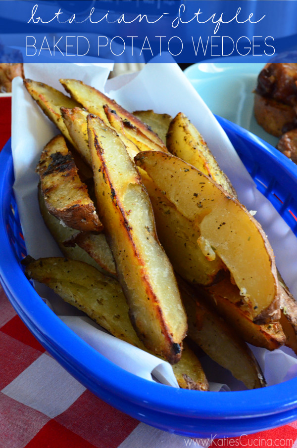 Leftover Baked Potato  Italian Style Baked Potato Wedges