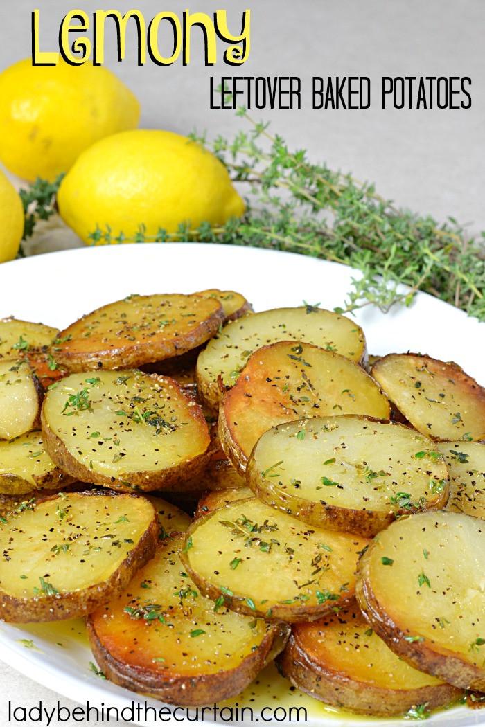 Leftover Baked Potato  Lemony Leftover Baked Potatoes