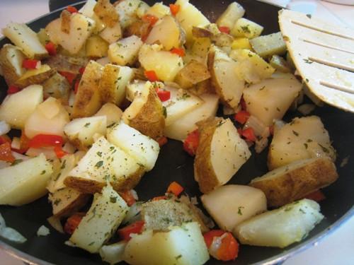 Leftover Baked Potato  Baked Potato Homefries from Leftovers