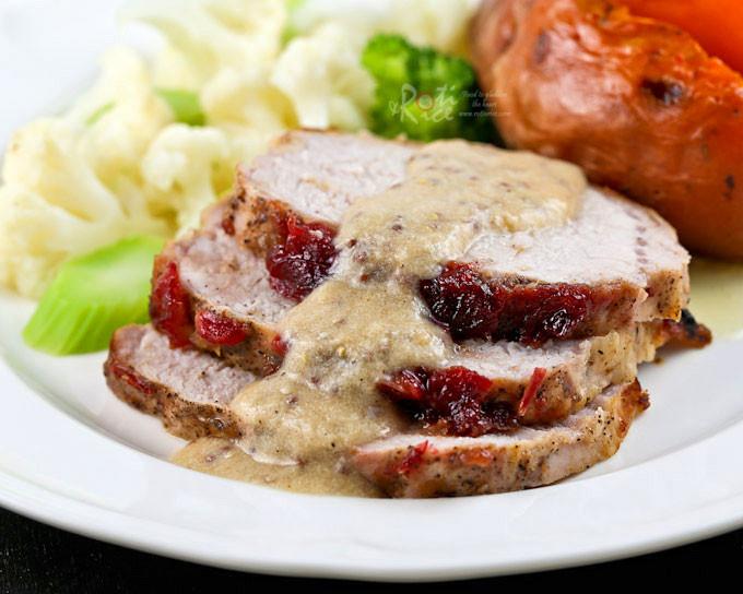 Leftover Pork Shoulder Recipes  Cranberry Sauce Pork Loin Roast