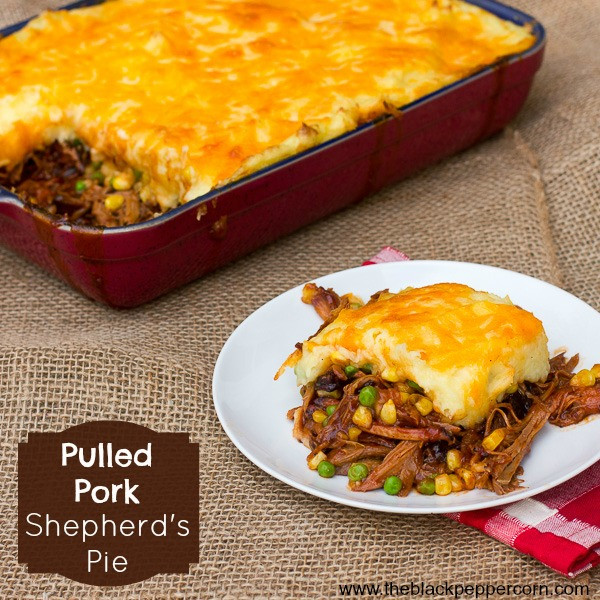 Leftover Pork Shoulder Recipes  Pulled Pork Shepherd s Pie Recipe using Leftover Smoked