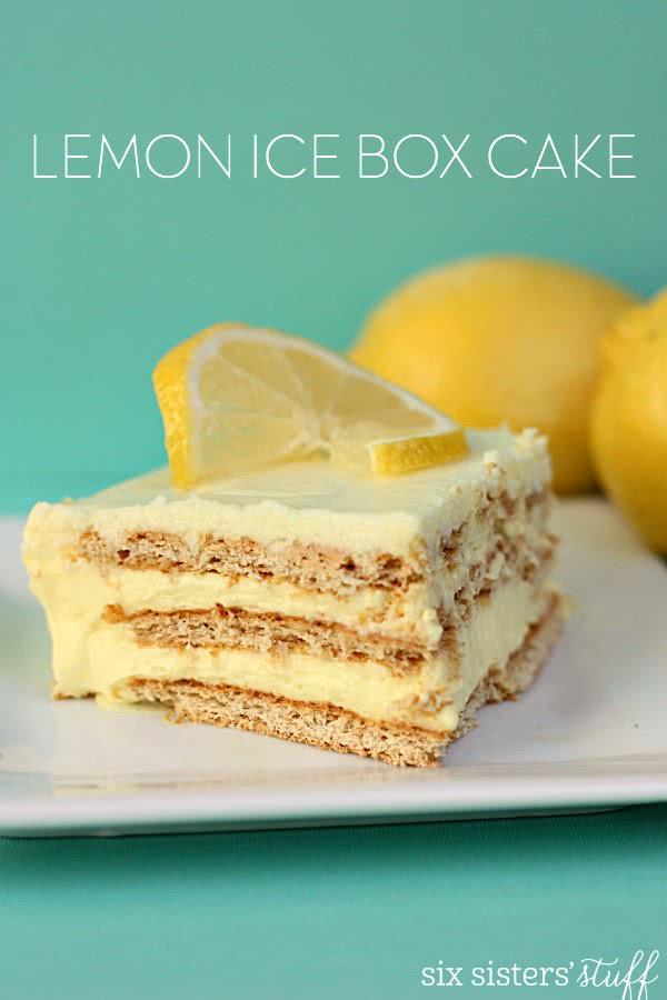 Lemon Icebox Cake  No Bake Lemon Ice Box Cake – Six Sisters Stuff